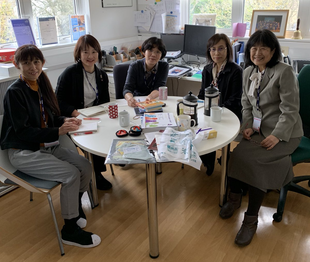 Delighted to welcome Mikiko Tabu from Seitoku University together with colleagues from University of Tokyo and Ochanomizu University @EastLdnTSA today.<br>http://pic.twitter.com/QWmm82AWuc