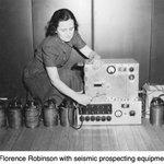 Image for the Tweet beginning: #womeninseismology #womenshistorymonth #AGU100 Florence Robertson earned