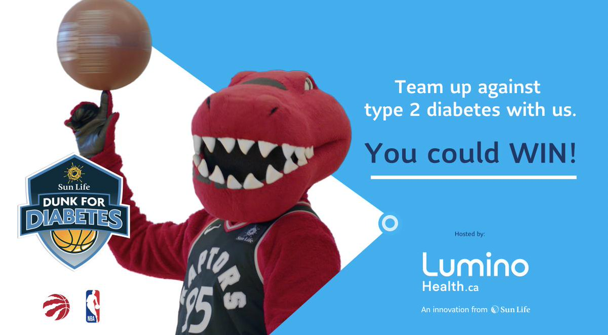 We've been teaching kids across Canada about type 2 diabetes prevention.   Now we're inviting fans across Canada to join #SunLifeDunkForDiabetes online.  Sign up today » https://rpt.rs/2TOtIwK