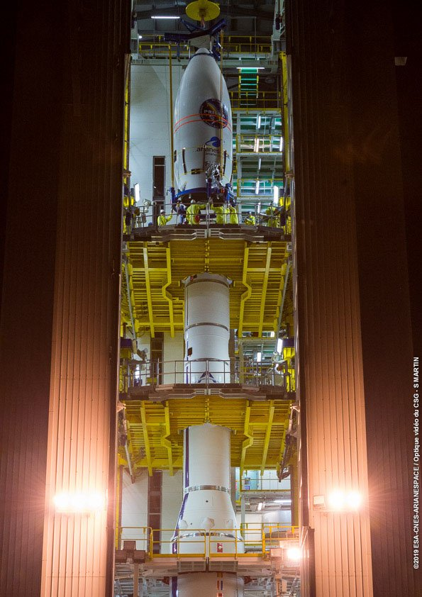 A solid-fueled Vega launcher is set for liftoff from French Guiana tonight at 9:50pm EDT (0150 GMT), ready to deliver Italy's PRISMA Earth observation satellite into orbit. Live coverage: https://spaceflightnow.com/2019/03/21/vega-vv14-mission-status-center/…