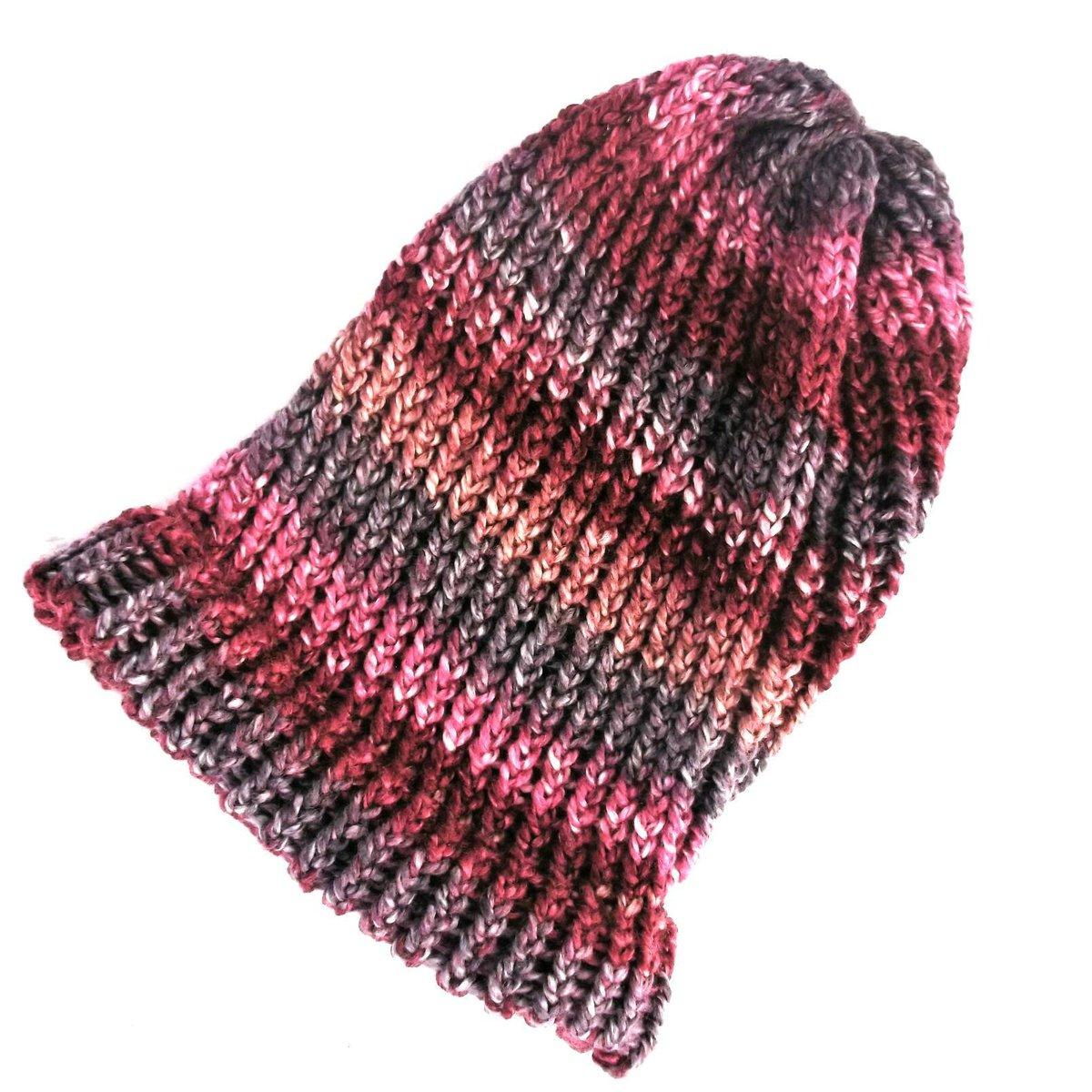 4a77efd2 ... wool hat, loose knit slouch hat, pink dreadlock tam, winter beanie hat,  vegan clothing, 90s grunge https://etsy.me/2pB0Bvn #Knittedhats  #Handmadehour ...