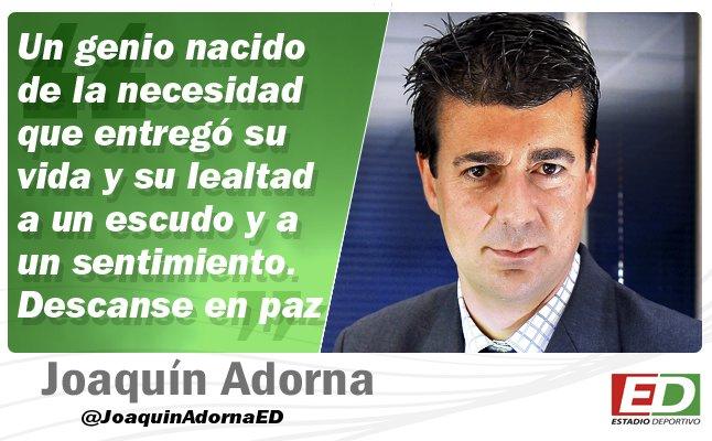 'Adiós a Rogelio, adiós a una parte del verdadero #Betis' http://ow.ly/hCsU30o8OF5 Por @JoaquinAdornaED