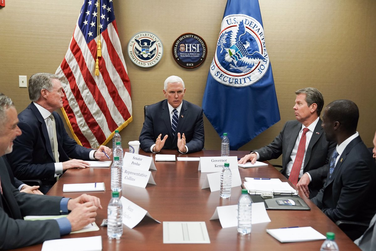 Briefed by Atlanta @ICEGov field office leadership on the work these great law enforcement officers are doing to keep Americans safe. The men &amp;women of ICE are on the frontlines combatting human trafficking, drug smuggling&amp; other illicit activity. Thank u, ICE! We have your back! <br>http://pic.twitter.com/FYhrcwioVw