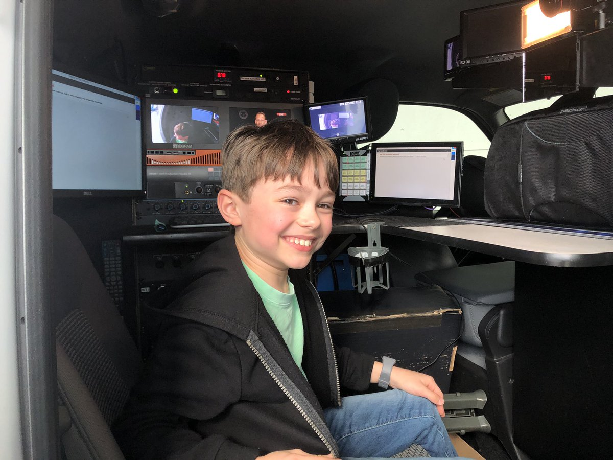"Eight-year-old Max from Marietta checks out @wsbtv ""Severe Weather Chaser 2"" @ATLAUTOSHOW @GWCC_ATL  @AllThingsWSB @NelsonHicksWSB"