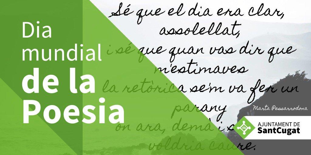 Acomiadem el #DiamundialdelaPoesia amb uns versos de Marta Pessarrodona, il·lustre santcugatenca i premi d'honor de les Lletres catalanes #SantCugat #culturaStc