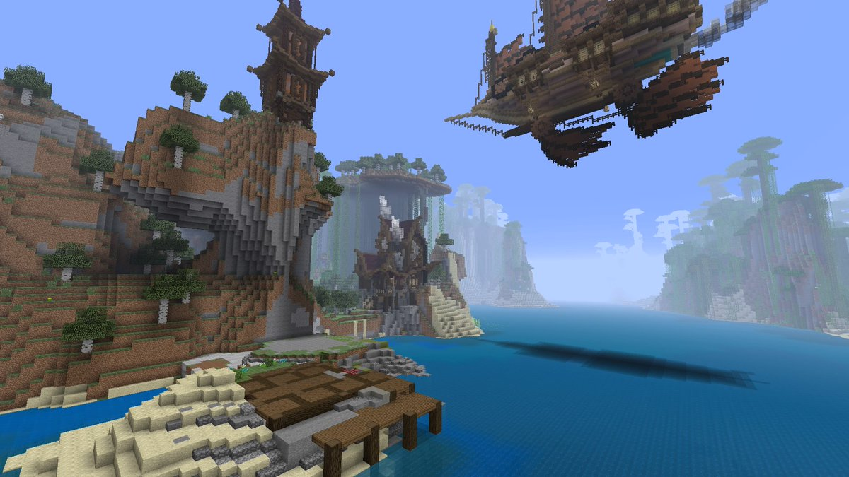 Buildings 2 and 3 have been started, but could take a while #PS4 #minecraft #steampunk #blueprintsareconfusing