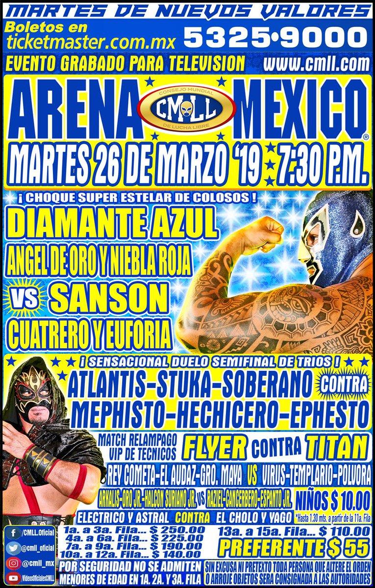 CMLL: Una mirada semanal al CMLL (Del 14 al 20 de marzo de 2019) 27