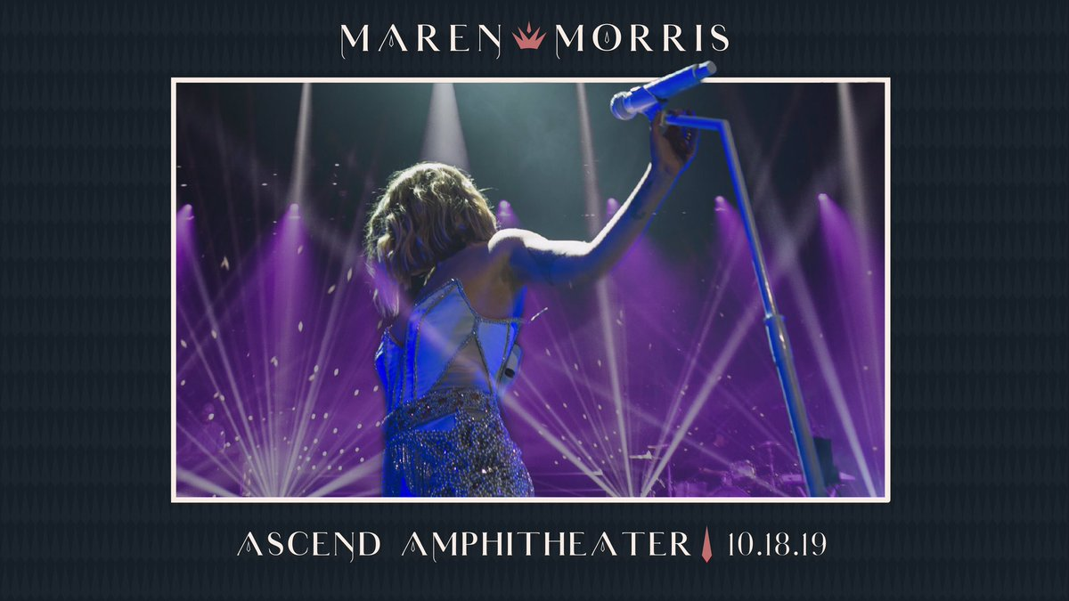 NASHVILLE! Tickets for Ascend Amphitheater are on sale tomorrow! Tickets: http://bit.ly/MMnashville  VIP: http://bit.ly/MarenVIP19  ✨👑