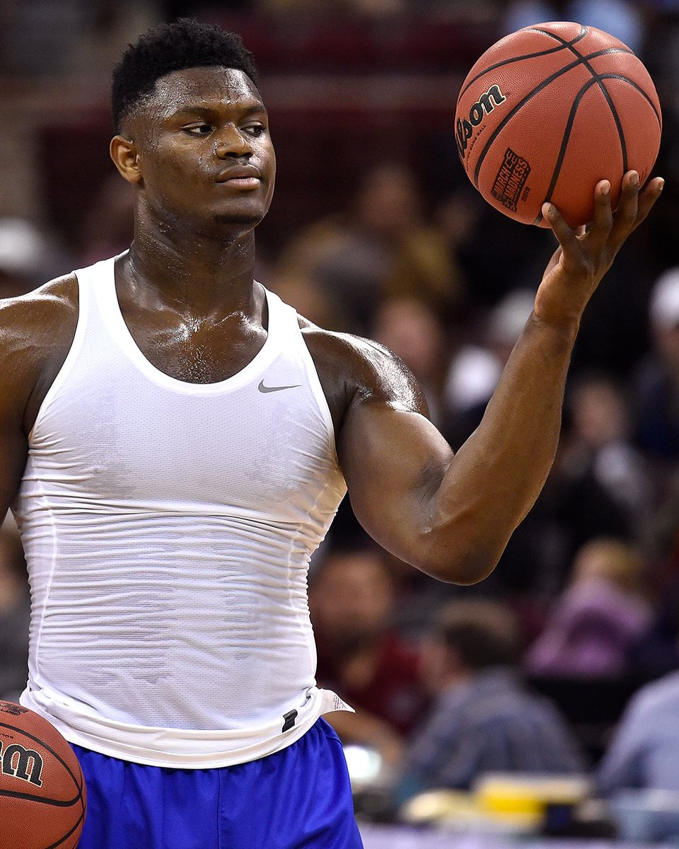 You know those before and after pictures of dudes in college and then when they make the League? Imagine what Zion&#39;s pictures are gonna look like... <br>http://pic.twitter.com/ojn09wxLR2