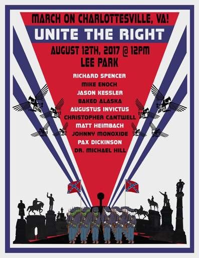So where were the very fine ones? Next to them? Pro tip: if you&#39;re &quot;only&quot; marching next to a Nazi, you&#39;re not a fine person.   Below is the poster advertising the event. Just exactly what sort of folks do you think come out for events featuring Richard Spencer and Jason Kessler? <br>http://pic.twitter.com/bRyWBUp1en