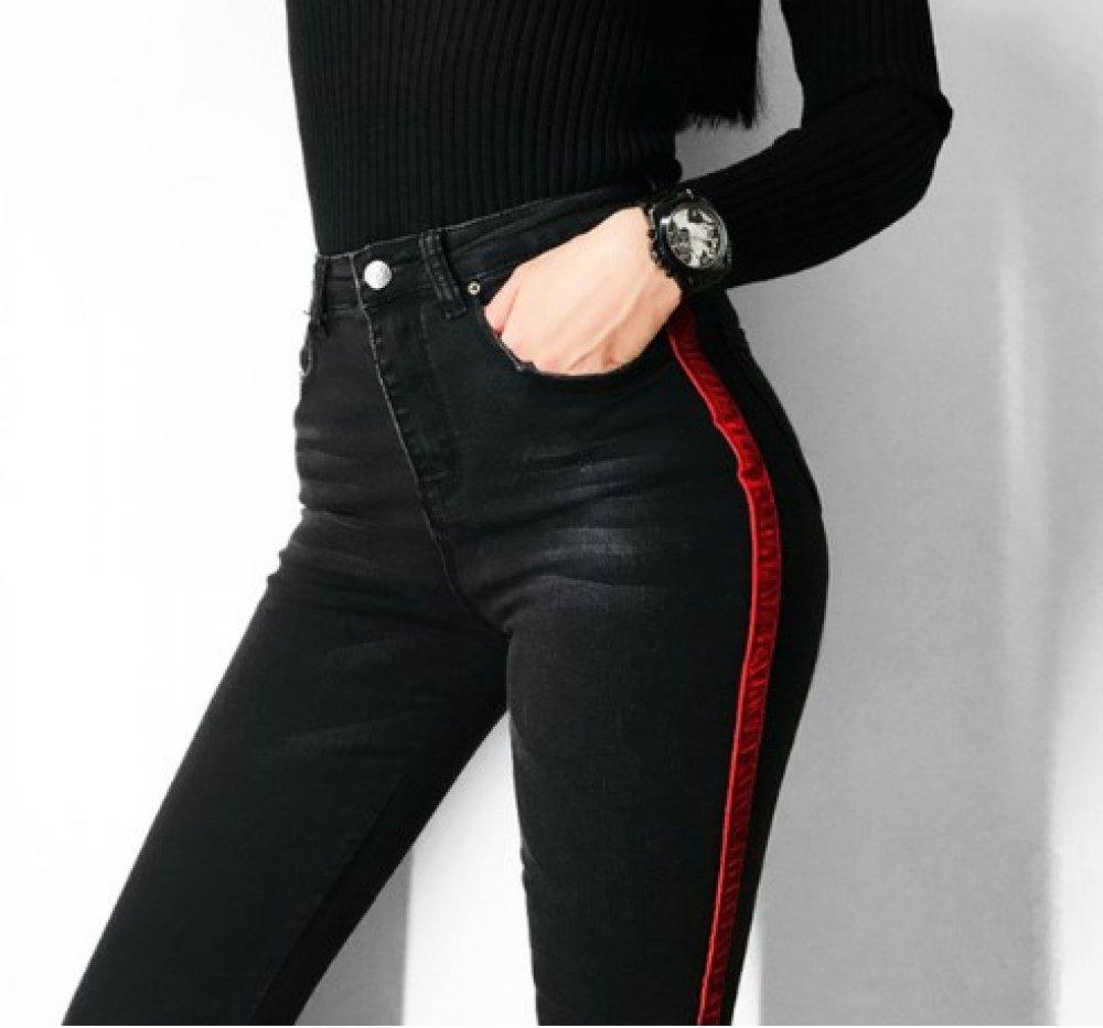 #food #tflers Women&#39;s Striped Skinny Jeans <br>http://pic.twitter.com/jJdHnn9bSF