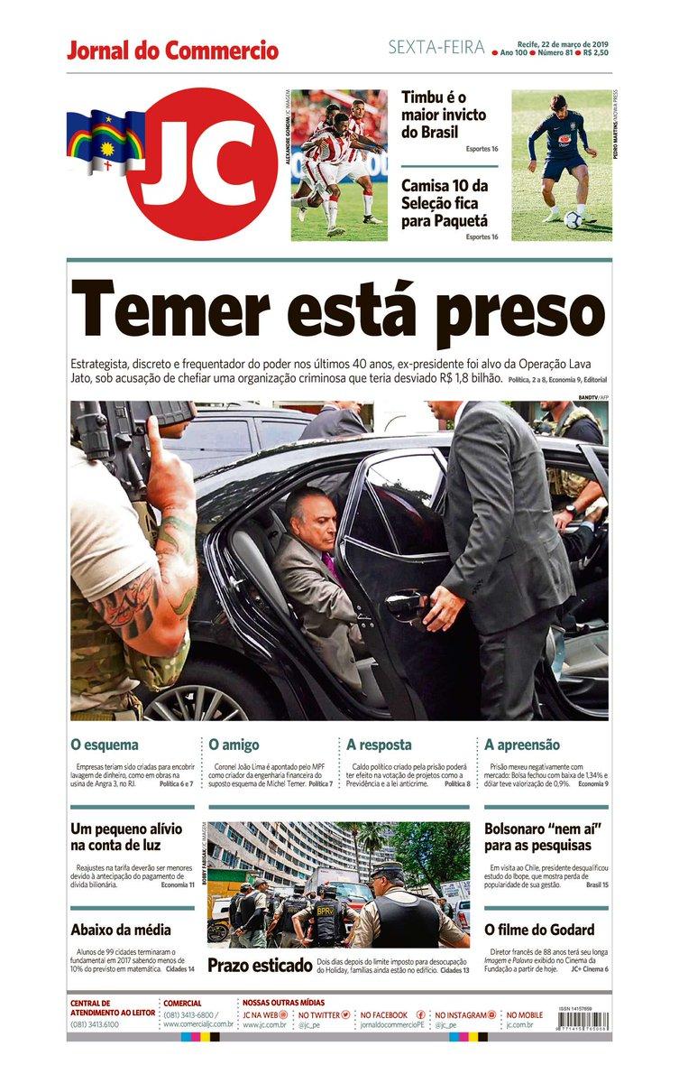 Capa do dia 22/03/2019