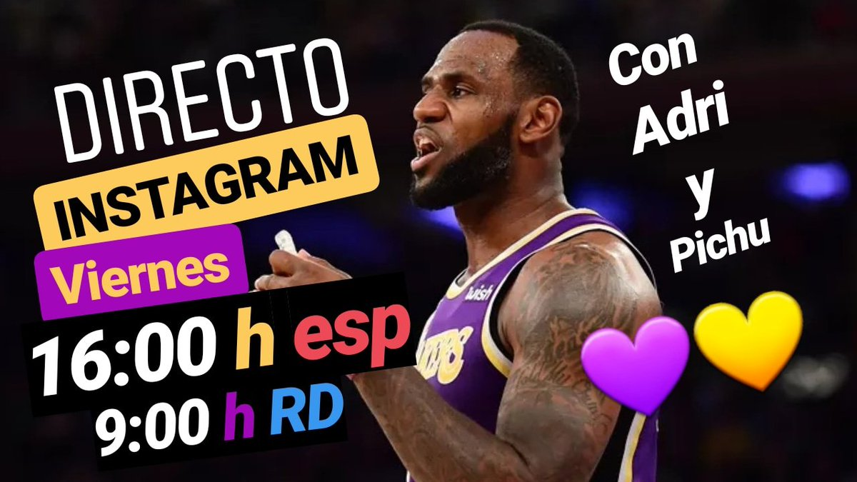 Mañana @Bang4Three y @PichuRuas estarán en directo por INSTAGRAM contestando preguntas #LakeShow #NBA y de lo que queráis 😎   16:00 h esp 9:00 h RD  LINK⬇️  http://www.instagram.com/lafiebrelakers