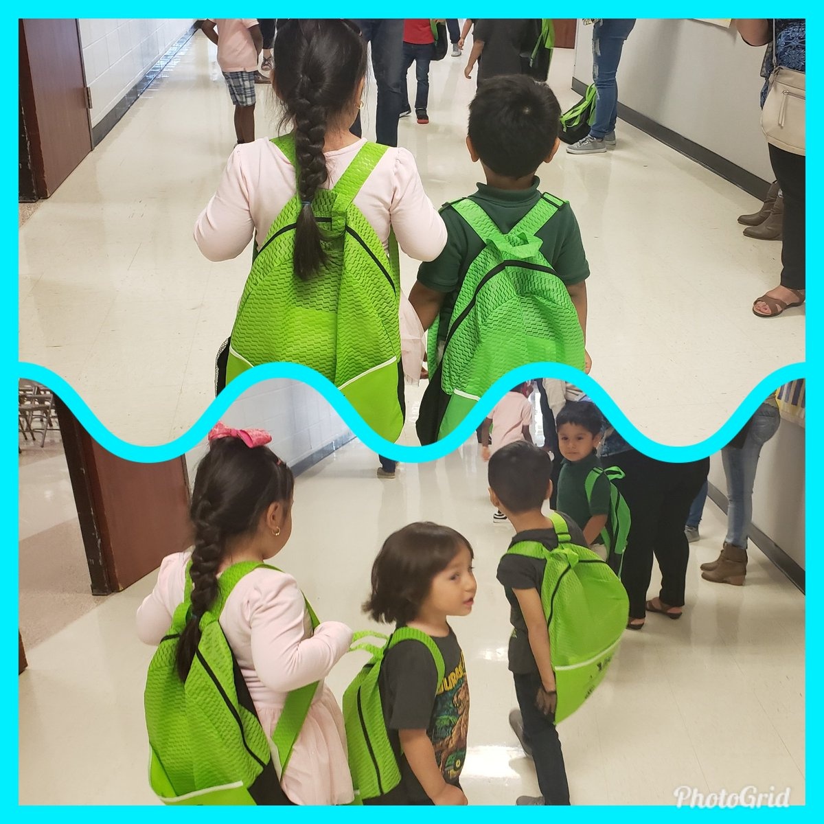 Our future Kindergartners showing off their new backpacks! @HicksTigers @Alief_Fame #WeAreHicksElem #aliefmission #AliefRoundUp2019