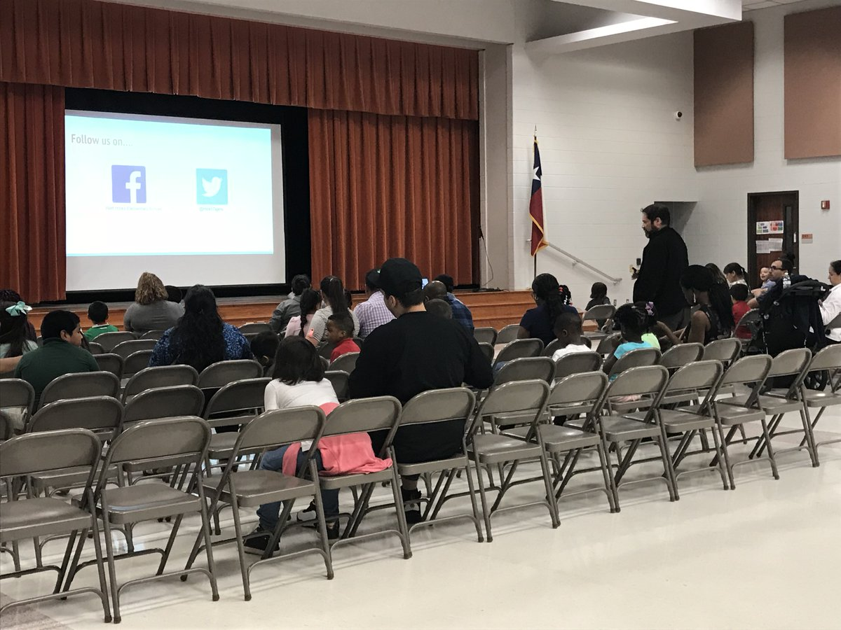"Thanks to all the families that came out for Kindergarten Round Up! My favorite part was when a parent of a child in my class answered another parents question with ""it is amazing to see how much they learn and grow in kindergarten!"" @HicksTigers #WeAreHicksElem"