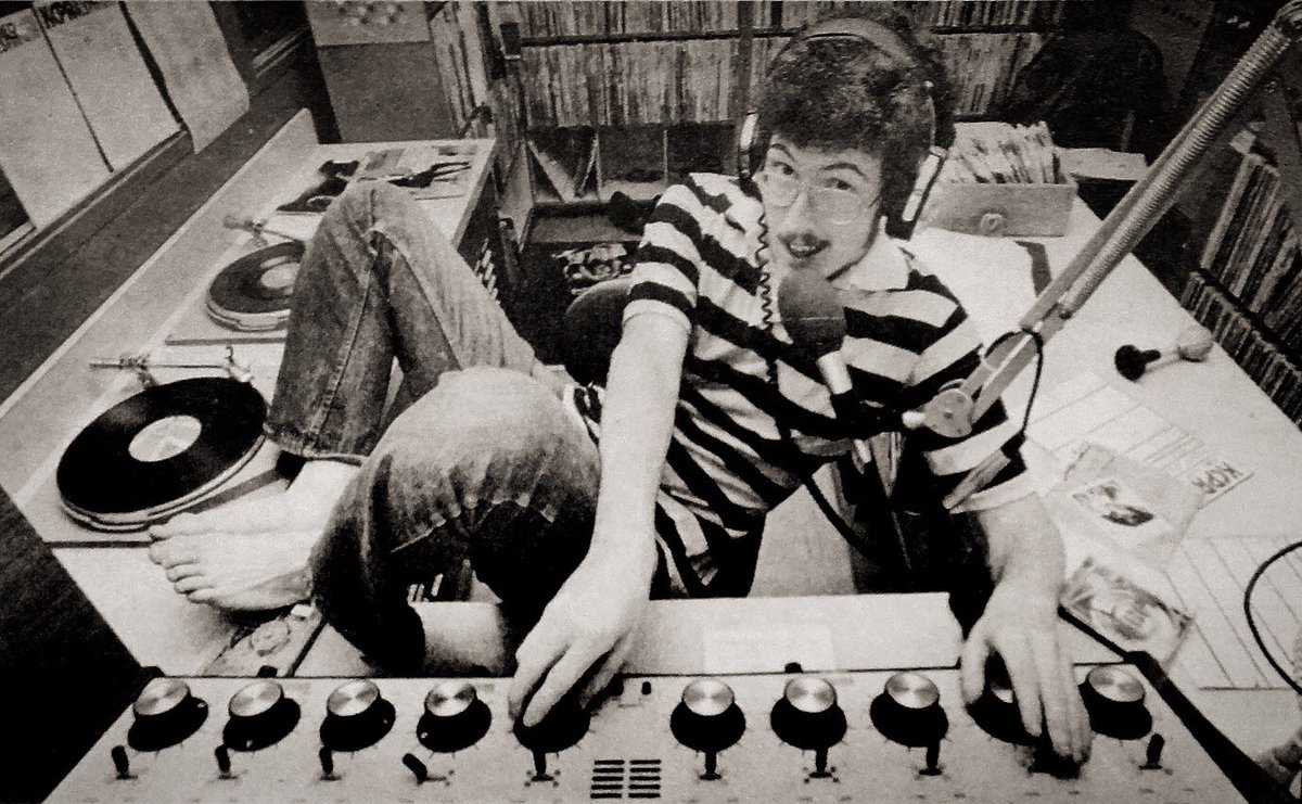 """#tbt Circa 1980, doing a shift of """"The Weird Al Show"""" on my college campus radio station (KCPR San Luis Obispo) <br>http://pic.twitter.com/AIP7UhTKhU"""