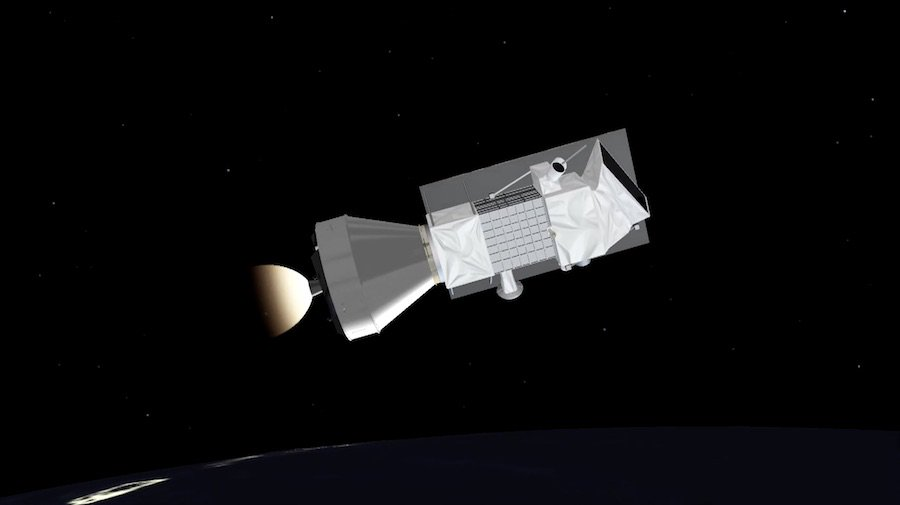 Now in range of a tracking station in Bermuda, the Vega rocket's liquid-fueled fourth stage has ignited for the first of two burns needed to place PRISMA into its targeted orbit. Live coverage: https://spaceflightnow.com/2019/03/21/vega-vv14-mission-status-center/…
