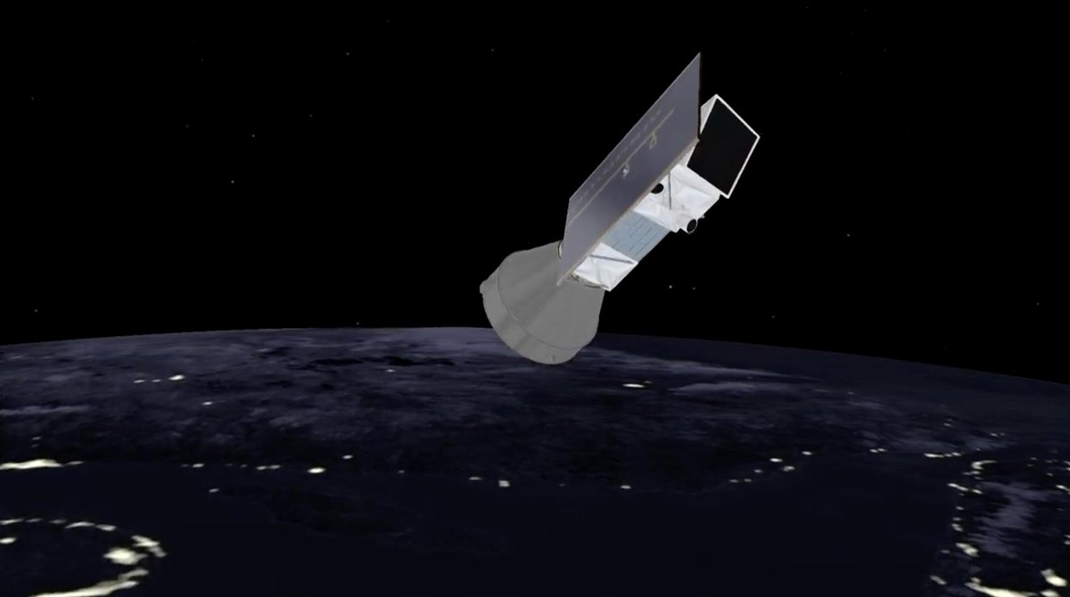 The Vega rocket's AVUM upper stage has completed its first firing, beginning a coast over the North Pole before reigniting to inject Italy's PRISMA Earth observation satellite into a circular orbit. https://spaceflightnow.com/2019/03/21/vega-vv14-mission-status-center/…
