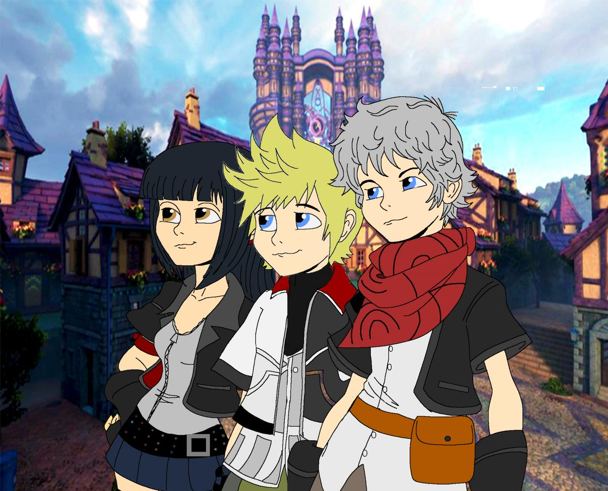 #Throwback to a bubbly artwork of the Daybreak Trio by @KH13com&#39;s Ventuslover123!   https://www. kh13.com/gallery/image/ 44301-the-perfect-trio/ &nbsp; … <br>http://pic.twitter.com/iqLVZNQK2U