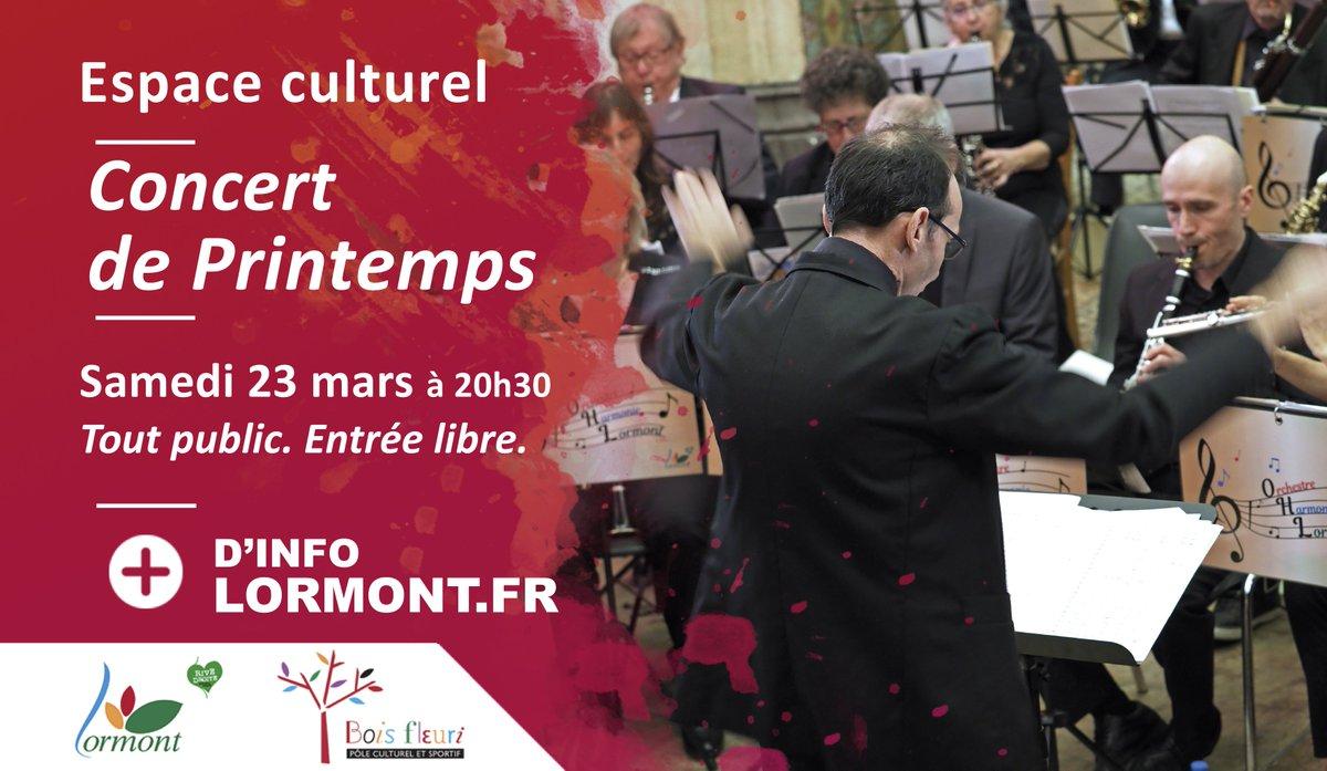Demain, à 20h30, ne manquez pas le concert de #printemps de l'Orchestre d'Harmonie de Lormont à l'espace culturel du Bois Fleuri ! #jazz #concert #orchestre #harmonie #famille #chant #musique #boisfleuri #gironde #lormont #Nouvelleaquitaine #espaceculturel https://t.co/Uah8CrhGM9