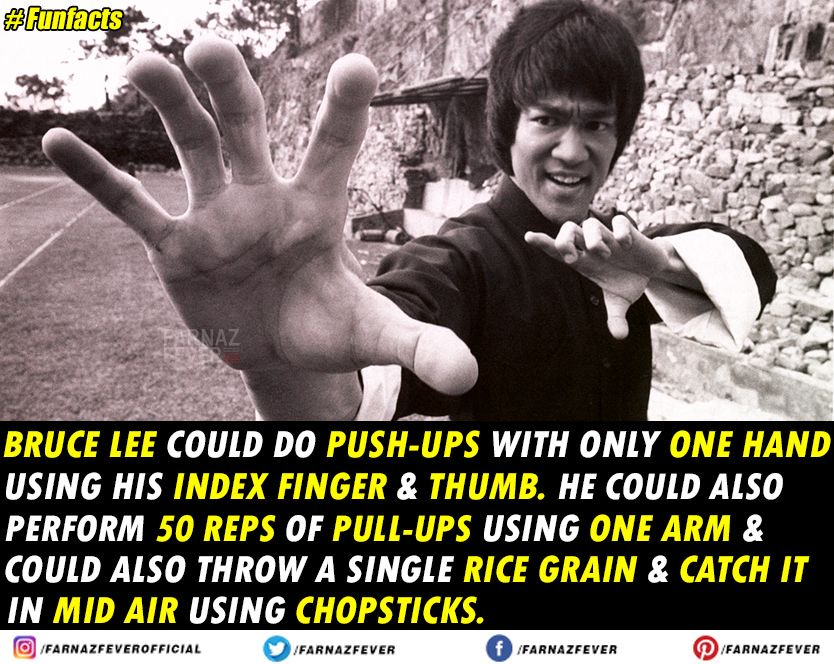 Did you know? #BruceLee #FlashbackFriday