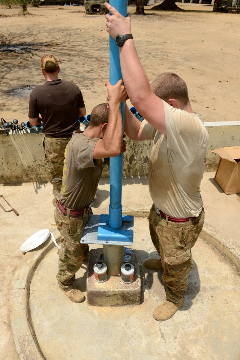 Water is a human right. And a human right that the Army supports in its humanitarian work. This #WorldWaterDay we look back on the work of the Royal Engineers to provide sustainable water to remote locations in Sierra Leone 💧