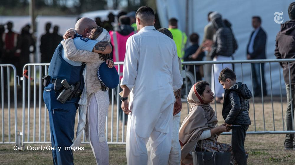 Traditional Friday Prayers became a communal event, drawing together Muslims from afar, relatives of the dead and New Zealanders in headscarves experiencing an Islamic service for the first time https://nyti.ms/2JsRDNo