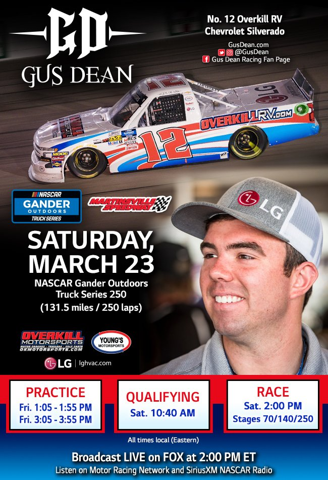 189b240e6419e ... but I m ready to get to work with my guys  youngsmtrsports and give   OKMotorsports a great run tomorrow in my  MartinsvilleSwy debut!