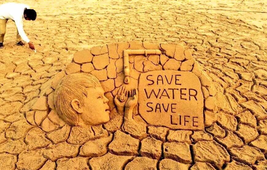 Sudarsan Pattnaik's photo on #SaveWater