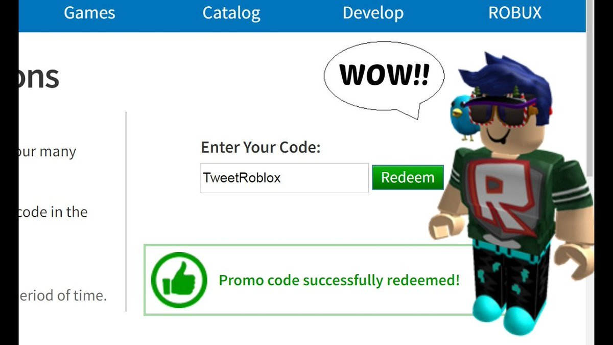 Roblox Promo Codes Redeem 2019 May Robux How To Get Free Robux