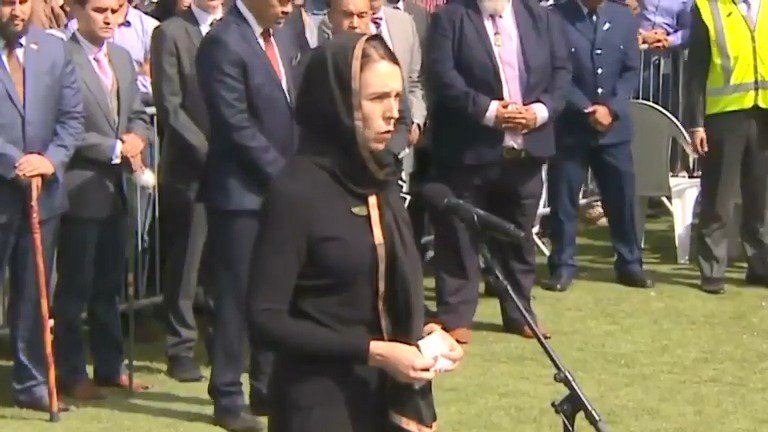 New Zealand Prime Minister Jacinda Ardern told a crowd of thousands that 'New Zealand mourns with you' as the call to prayer rang out over Christchurch one week after a shooting left 50 people dead https://reut.rs/2JurePb