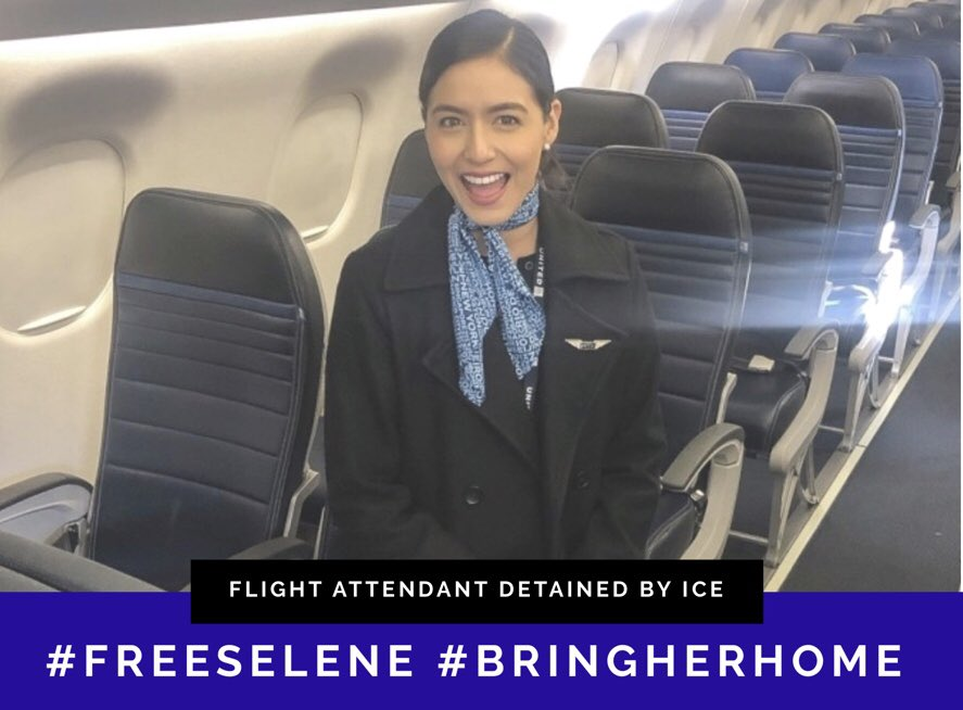 Selene Saavedra Roman is a DREAMer with approved status, no criminal history, and simply doing her job as a certified U.S. Flight Attendant. But she was detained by ICE and has been held for over a month with no end in sight. #FreeSelene Sign the petition: https://petitions.moveon.org/sign/free-selene-saavedra?source=c.url&r_by=21191401 …