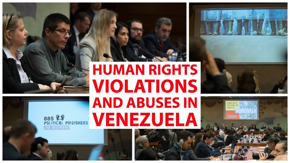 This week at #UNGeneva, diplomats from around the world heard accounts of the dire #humanrights situation in #Venezuela under Maduro's illegitimate reign of fear and oppression. #EstamosUnidosVE   Full Length Video: https://youtu.be/Ka-DUIZXDTM