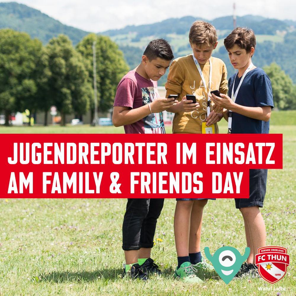 Morgen Samstag werden drei Jugendreporter des Projekts «Jurep 2.0» die sozialen Kanäle des FC Thun Berner Oberland übernehmen und live vom Family & Friends Day berichten. ➡️ Mehr erfahren: https://fcthun.ch/de/News#news-entry-2875… #wahriliebi #famday #jurep
