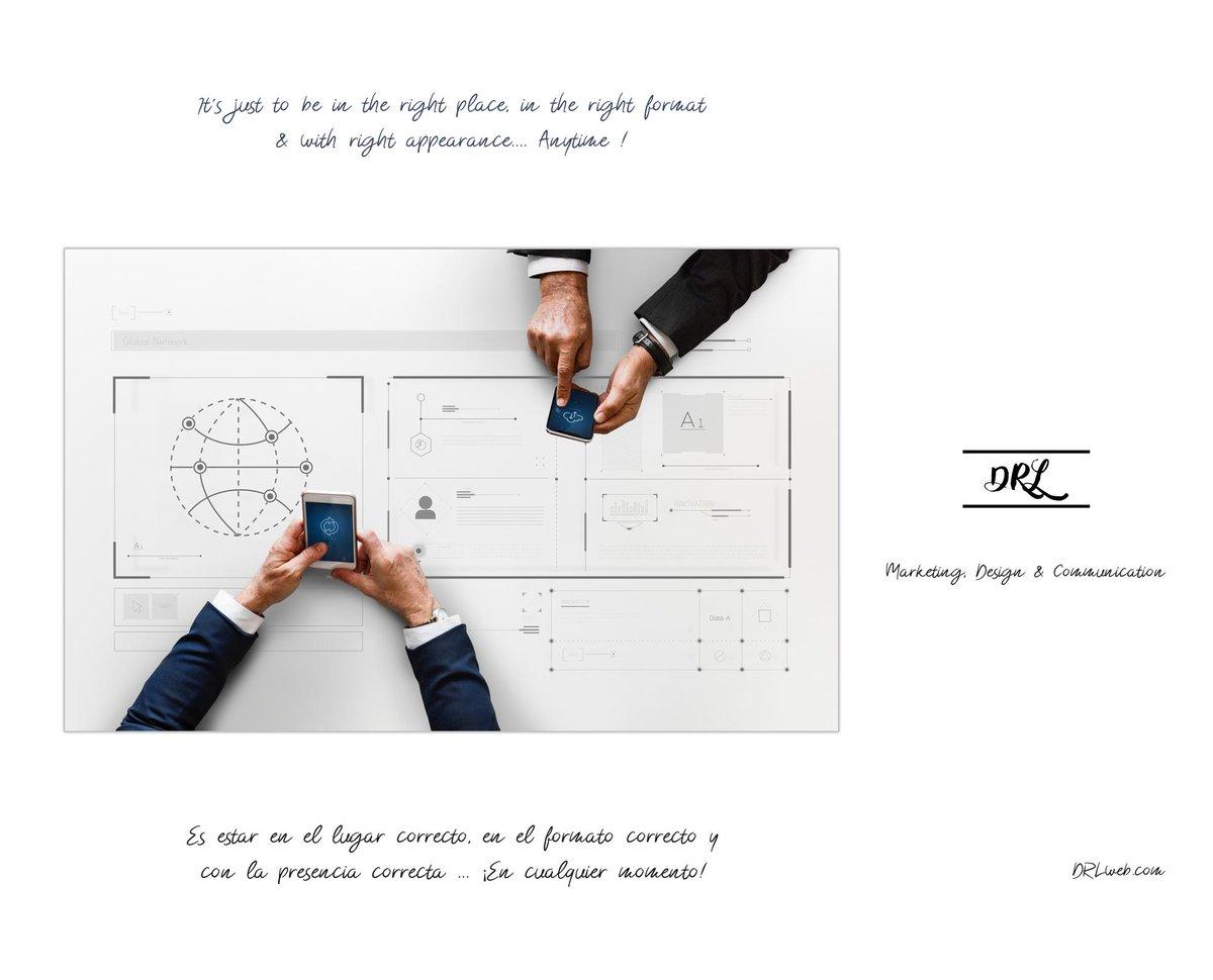 It´s just to be in the right place, in the right format & with right appearance.... Anytime ! - Es estar en el lugar correcto, en el formato correcto y con la presencia correcta ... ¡En cualquier momento!  http://DRLweb.com  #DRLweb #DRL #Marketing #Diseño #Comunicación