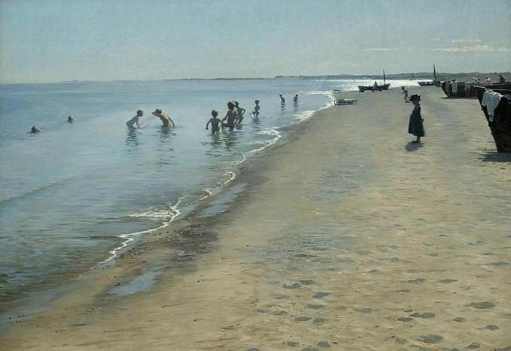 #FelizFinde  Peder Severin Kroyer - Summer Day On Skagen&#39;s Southern Beach #Norwegian and Danish painter<br>http://pic.twitter.com/q1TkYQkTXG