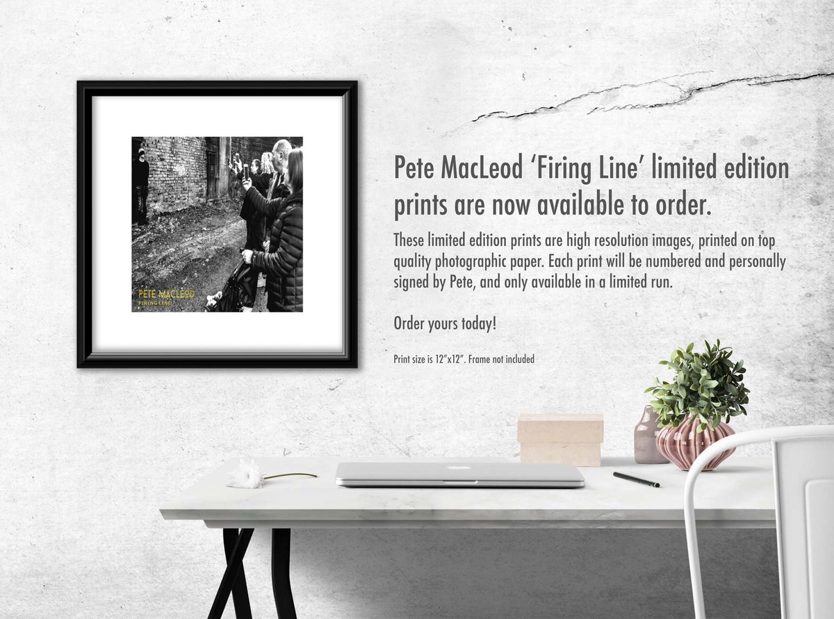 'Firing Line' Ltd edition prints now available. These Ltd edition prints are a high resolution, printed on top quality photographic paper. Each print will be numbered & personally signed by Pete, & only available on a ltd run. Order yours today HERE > http://www.petemacleod.net/official-store
