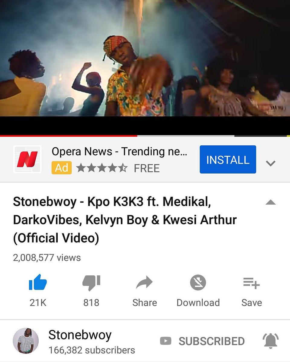 We just hit 2million plus views on YouTube with #kpokeke #Kpok3k3  Congratulations to bhimnation   Let's win for Ghana #KCA #VoteStoneboy #KCA #VoteStoneboy  #KCA #VoteStoneboy #KCA #VoteStoneboy #KCA #VoteStoneboy #KCA #VoteStoneboy #KCA #VoteStoneboy @stonebwoyb<br>http://pic.twitter.com/meAeiYSx5V