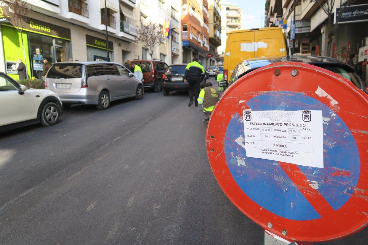 🚧🚧Las obras de la av. Gabriel Miró se centran  ahora  en la pintura vial. Esta noche se pintará  el tramo  comprendido entre la c/ Málaga y la av. de Ifach por lo que estará prohibido el estacionamiento. Las obras se concentrarán en los próximos días en  la c/ La Niña.