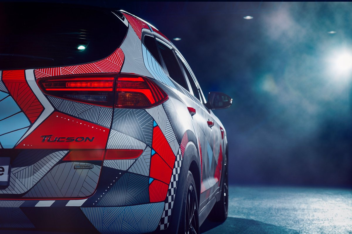 Hyundai celebrates launch of New Tucson N Line with unique art project. Read more here: https://bit.ly/2WiGssh
