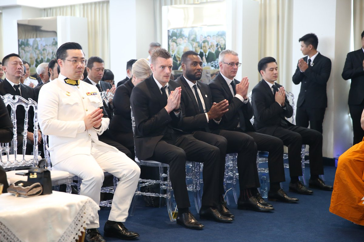 Leicester City staff and players paid a final tribute to Khun Vichai Srivaddhanaprabha in Bangkok on Thursday, as His Majesty King Maha Vajiralongkorn of Thailand presided over the Cremation Ceremony of the Football Club's beloved late Chairman. <br>http://pic.twitter.com/uT5mnHMhqv