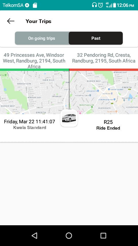 Had my first ride on the @kwelaapp today,quick response,fresh car.. courteous driver (Tshepo).. very impressed 👌🏾👌🏾👌🏾👌🏾👌🏾