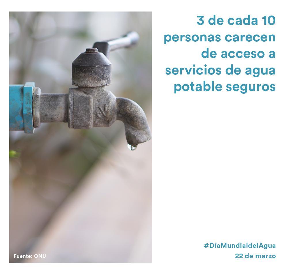 Un bien esencial del que muchas personas todavía carecen. En el #DíaMundialdelAgua, recordamos el 6º #ODS sobre la importancia de disponer de agua limpia y un correcto saneamiento para mejorar la calidad de vida de todos. ¡Comparte para concienciar sobre esta problemática!