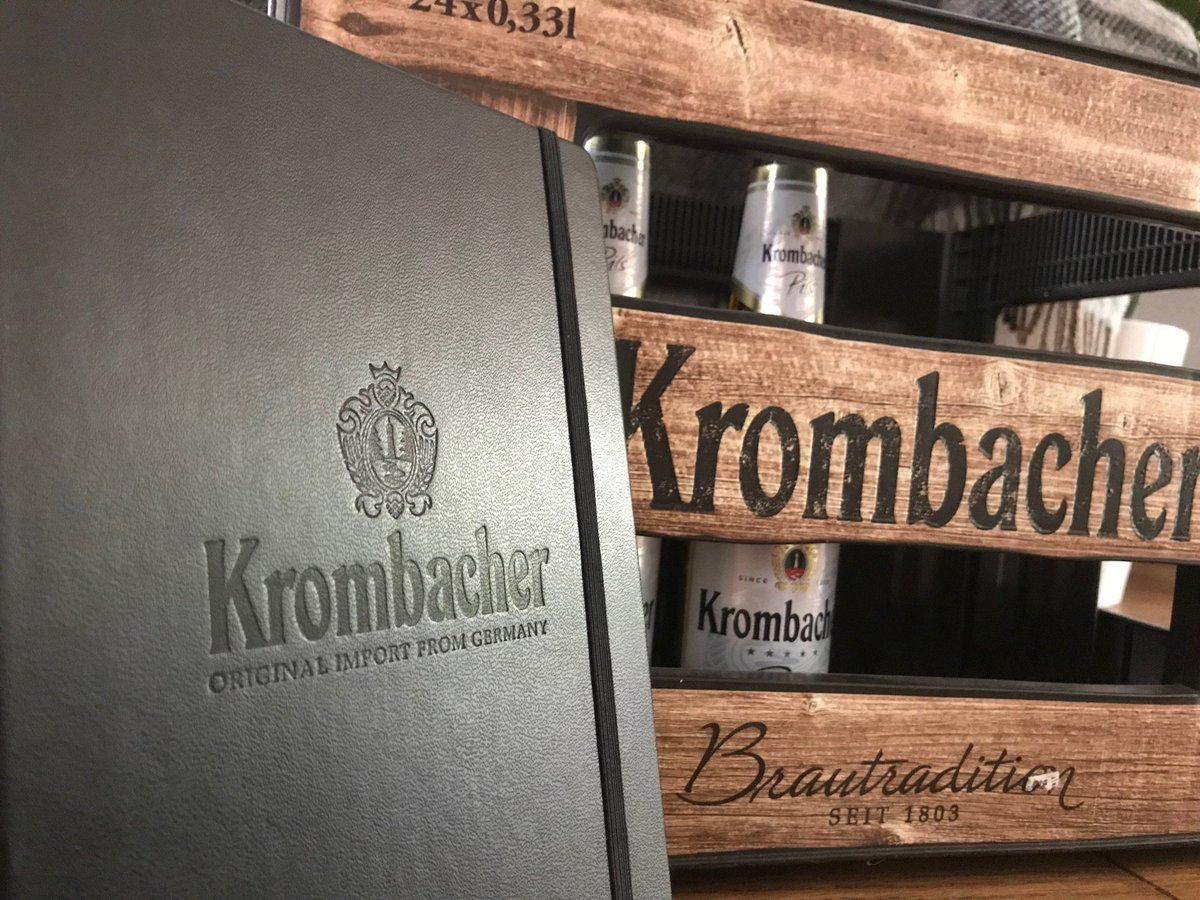 #Win a Krombacher notebook in today&#39;s #comp! Simply RT and Follow to enter and we'll pick 1 winner tomorrow at 8pm #competition #win #FreebieFriday <br>http://pic.twitter.com/QVD6qbVsGe