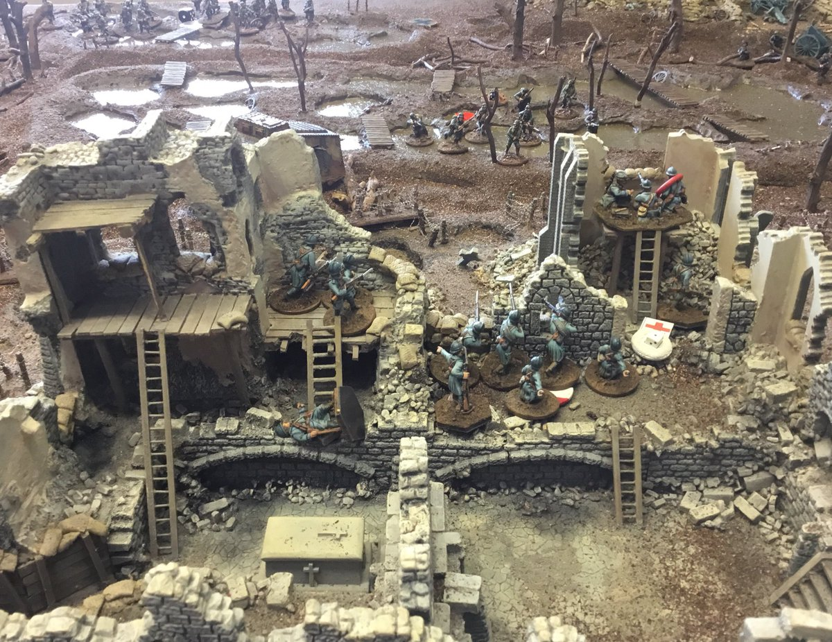 Start of a Lard-tastic weekend. My French are being massacred in the abbey in the play-test of @alcal50 's WW1 scenario.  Tomorrow I'm playing CoC Malaya and WaT! At #comeandhaveagoifyouthinkyourelardenough in Southampton  Sunday I'd SP2 FIW at Earlswood #spreadthelard<br>http://pic.twitter.com/1dMujKXlRn