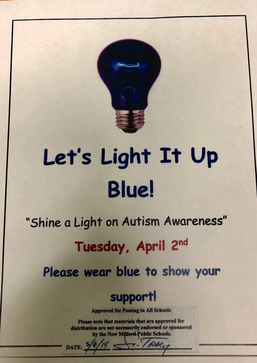 Light it Up Blue for Autism Awareness on April 2! Mark your calendar ⁦@SMS_CT⁩