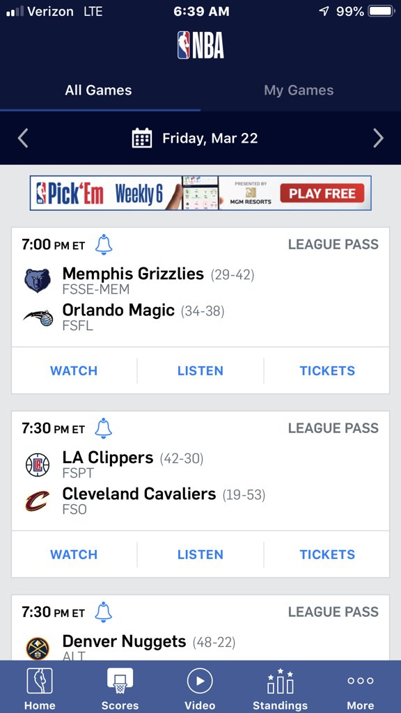 Good Friday Night games to start the weekend🏀🔥 #menphisgrizzlies #orlandomagic #losangelesclippers #clevelandcavaliers #denvernuggets #newyorkknicks #oklahomacitythunder #torontoraptors #sanantoniospurs #houstonrockets #miamiheat #millwaukeebucks #brooklynnets #losangeleslakers