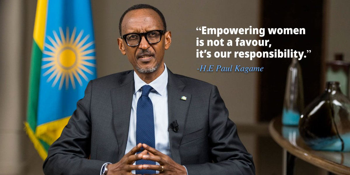 """""""Empowering #women is not a favour, it's our responsibility. When you develop women, you will be automatically developing everyone else. When we talk about empowering women we are talking about empowering the family."""" H.E. @PaulKagame   #IWD2019  #BalanceforBetter <br>http://pic.twitter.com/0W8kfUO2ag"""