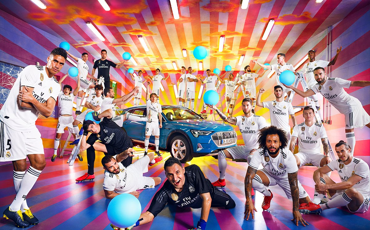 electrified⚡ @RealMadrid x Audi etron By David LaChapelle @AudiFootball
