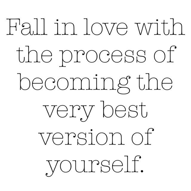"""Roger L. Basler de Roca on Twitter: """"Fall in love... first with the idea,  then with the process of becoming the very best version of yourself - first  step: love what you"""